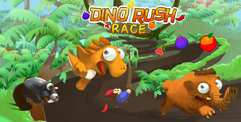 Dino Rush Race Multiplayer 2d Runner Game